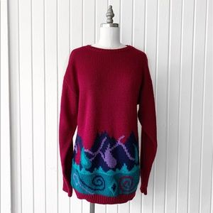 Vintage 90s Abstract Pattern Sweater H1765